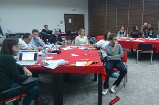 Image of participants during training 'Train the Trainers' in November in Konjic
