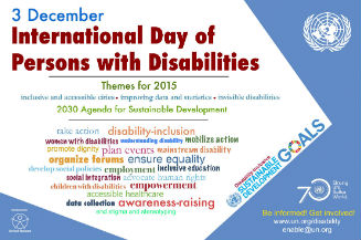 Image of poster for International Day of Persons with Disabilities - IDPD, 3 December 2015