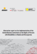 Image of cover page of Alternative report on inplementation of UN CRPD in BiH